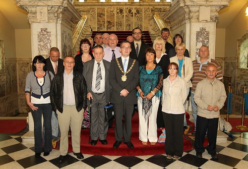 Belfast Lord Mayor with abuse survivors in City Hall | by survivorsni