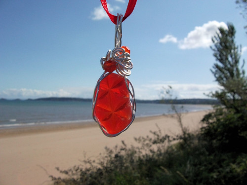 Red Sea Glass Pendant | by A Whittle