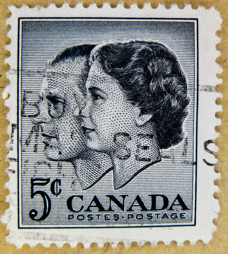 Great Stamp Canada 5c Queen Elizabeth And Prince Philip Du Flickr