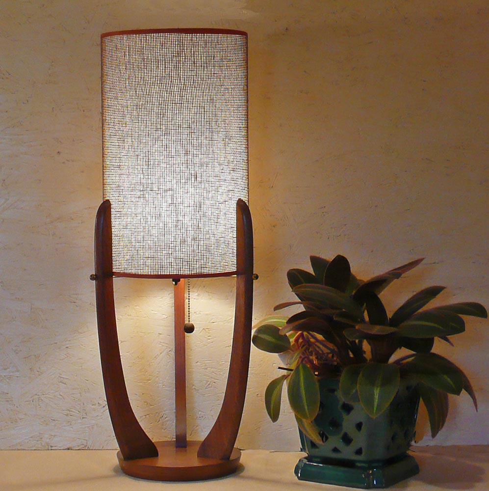 Mid century modern table lamp fabulous mid century for Mid century reproduction