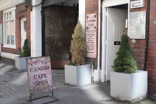 candid cafe entranceway