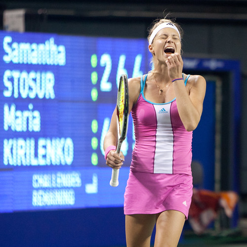 Made it! Kirilenko Defeated US Open Champion Stosur! | by Apricot Cafe