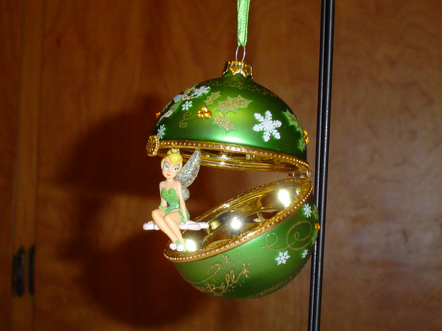 Tinker Bell and Snowflakes Glass Ornament | Flickr