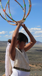 Jaime Lynn Butler performing the Hoop Dance | by OurChildrensTrust