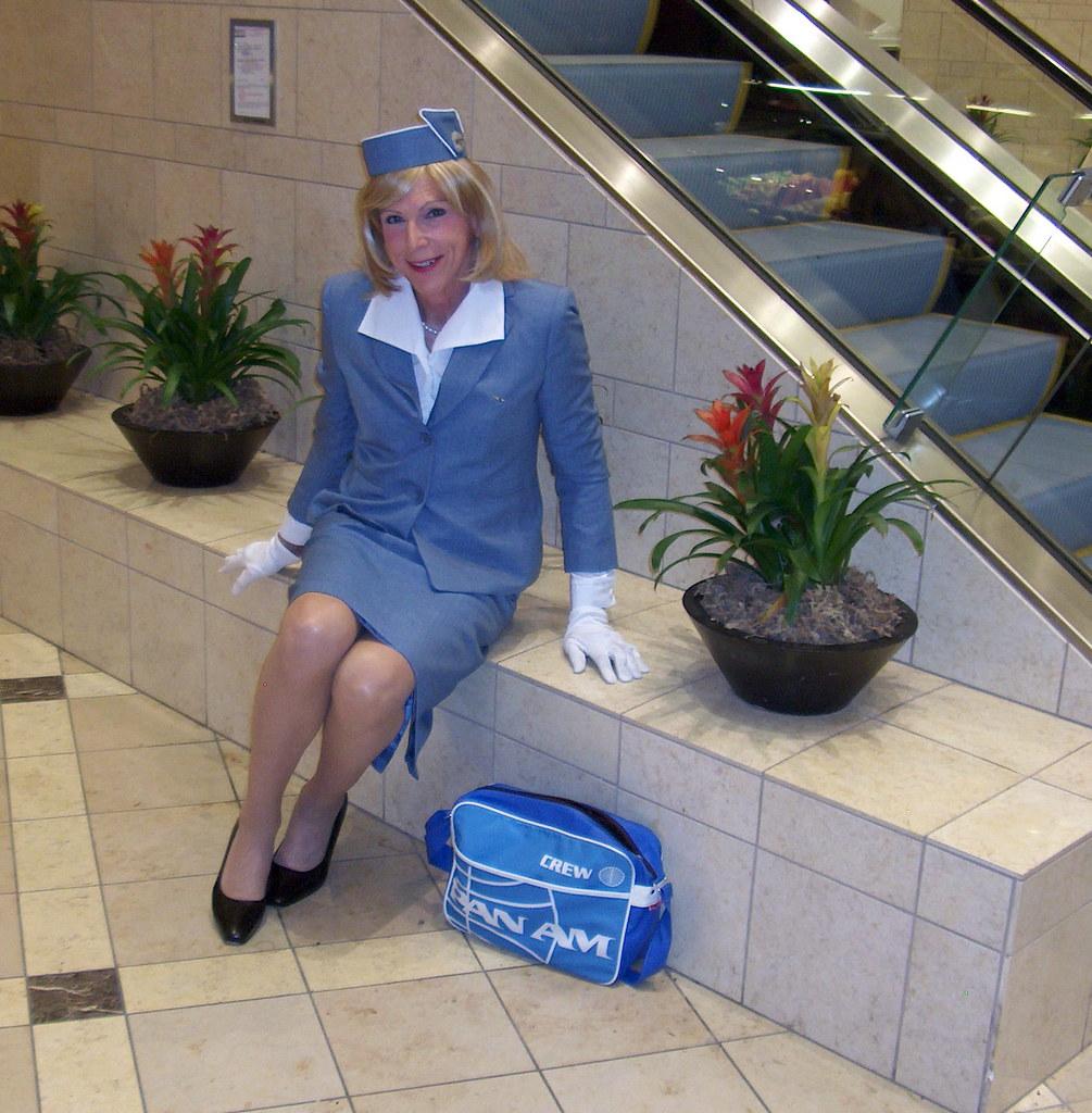 F Laura Beautiful Panam Stewardess Laura Enjoys Being