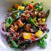 quinoa, mango, and eggplant salad