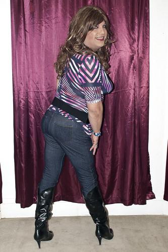 super model strip show butt video