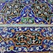 Detailed tiles of the Jameh Mosque in Esfahan