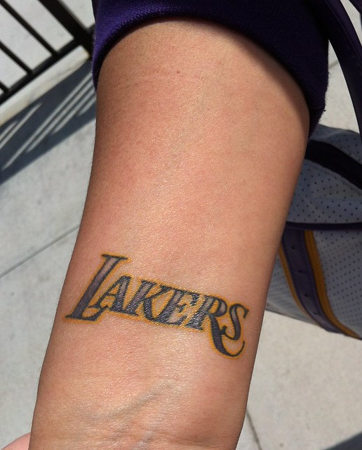 Lakers tattoo flickr photo sharing for La lakers tattoo