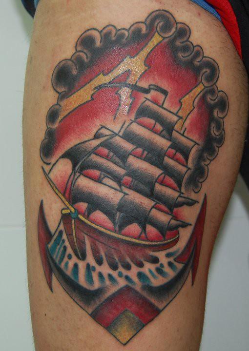 Barco Tradicional Copyright Losttattooinkcom Lost Tattoo Ink