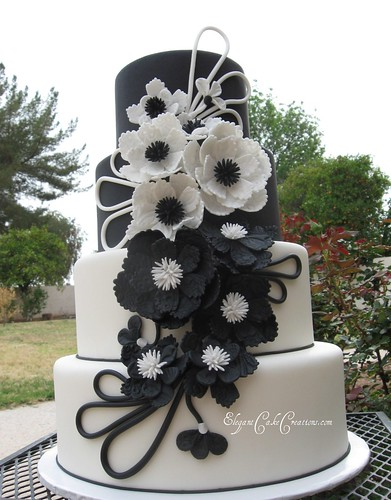 black and white lace wedding cakes modern black amp white wedding cake the leather and lace c 11837