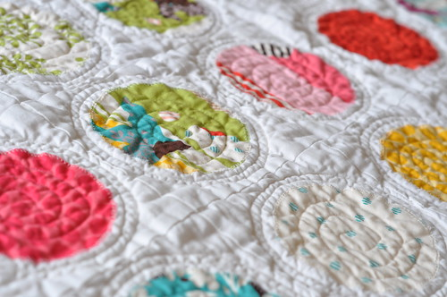 Applique circles quilt | by claremansell