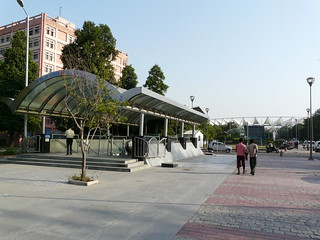 Jawaharlal Nehru Stadium Station Entrance | by varunshiv
