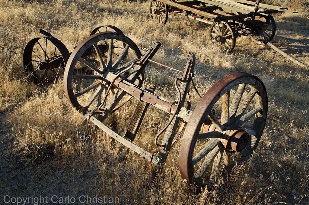 ... Old Wagon Wheels 1, Benton Hot Springs, California | By Carlocc