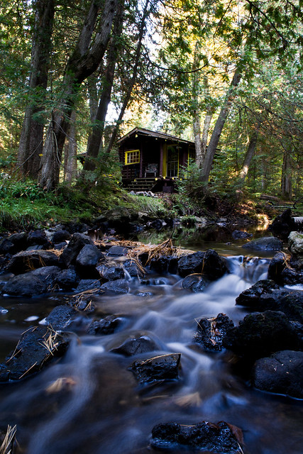 Log Cabin By The Creek Flickr Photo Sharing