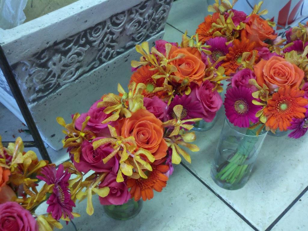 Orange And Hot Pink Wedding Flowers Danielle Flickr