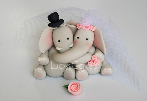 Elephant Wedding Cake Topper Wedding Cake Topper | by