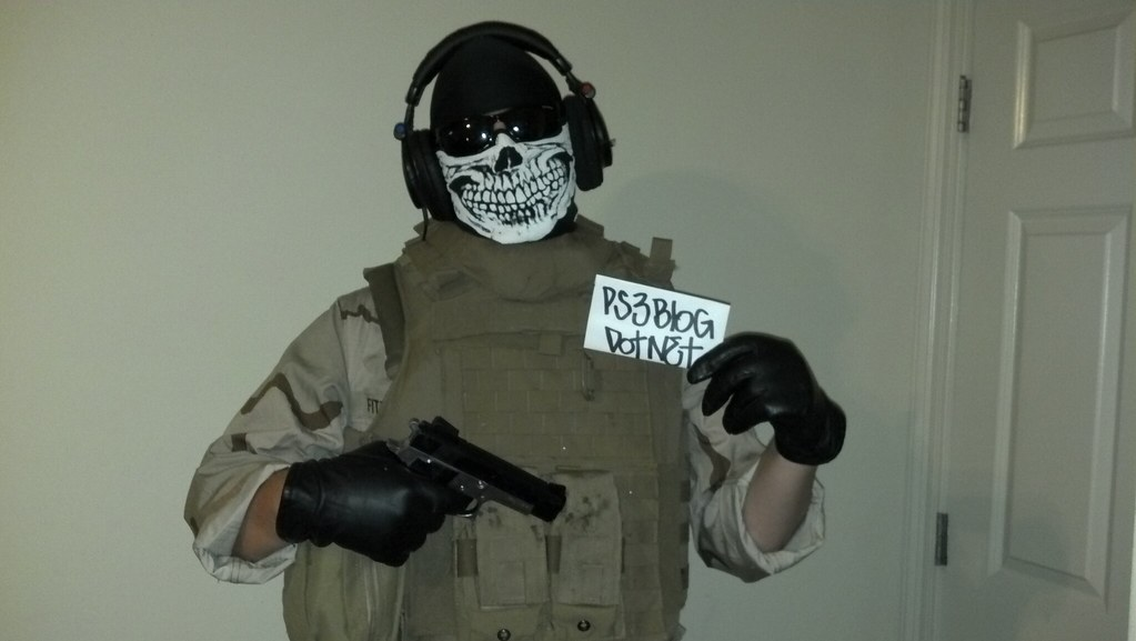 call of duty modern warfare 2s ghost costume by ps3blognet