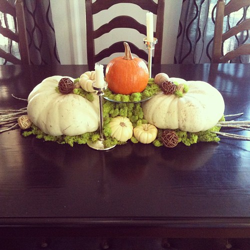 My November table centerpiece... details on the blog | by ...love Maegan