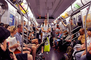 Riding the subway | by DodgeMedlin