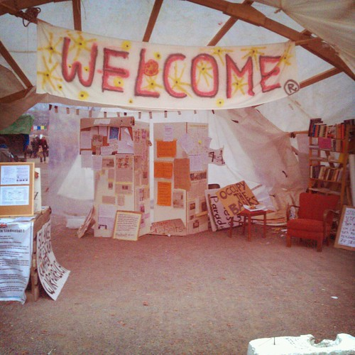 Lindenhof welcome #occupyparadeplatz #occupy | by pieceoplastic