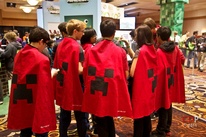 MineCon capes in real life! | Copyright Chad Dunbar Photo ...