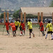 Football match between landmine survivors and persons with disabilities