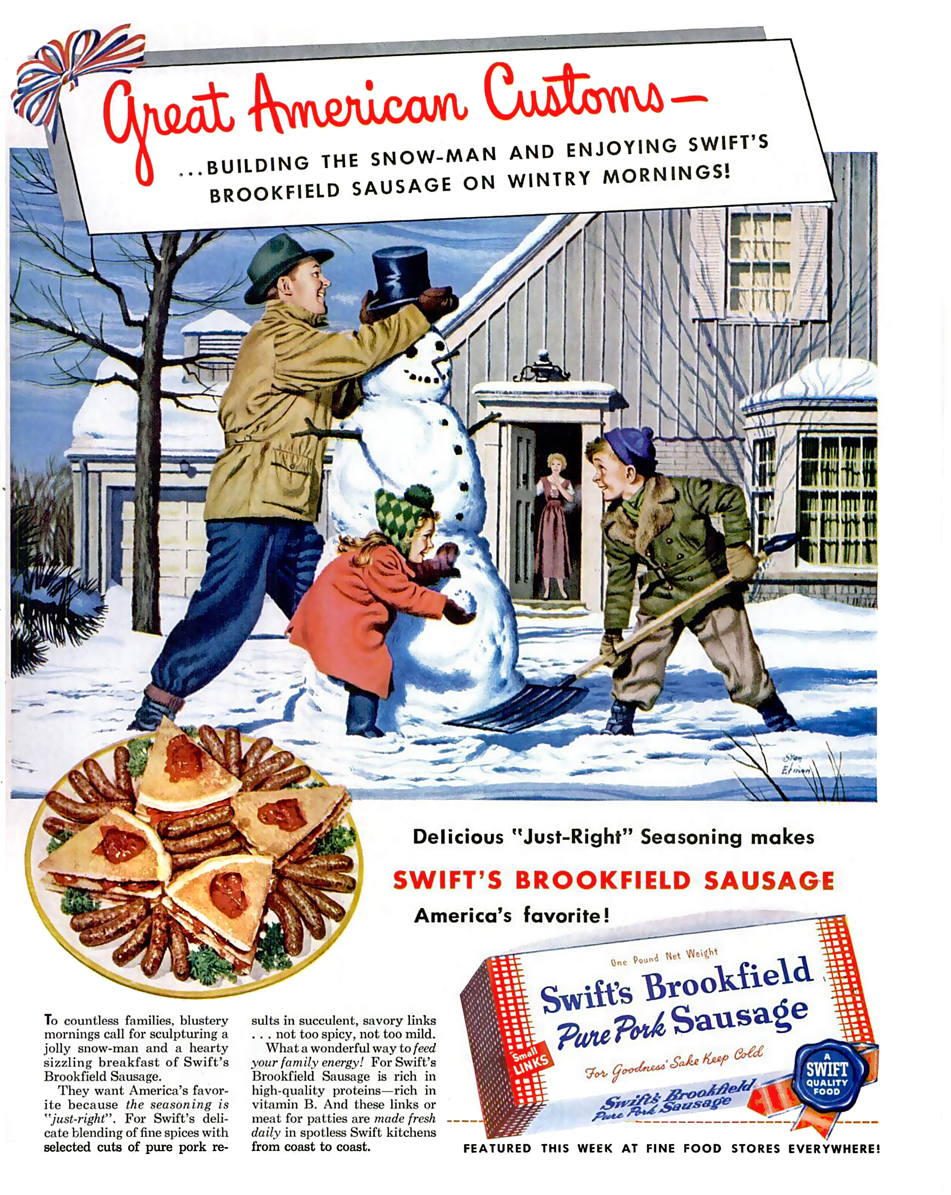 Swift's Brookfield Sausage - 1950