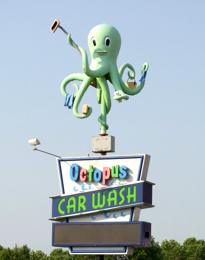 Octopus car wash sign octopus car wash sign in madison wi flickr octopus car wash sign by mattheuxphoto solutioingenieria Image collections