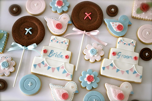 Country Fete Themed Wedding Cookies