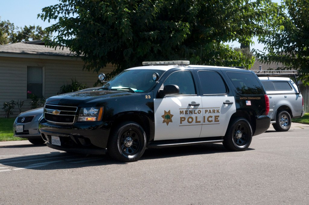 New Chevy Tahoe >> Menlo Park Chevy Tahoe Driving | A Menlo Park police car at … | Flickr