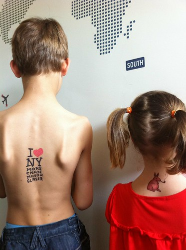 Hans Verschooten from Belgium sent us this awesome Tattly photo of his kids! | by tattly