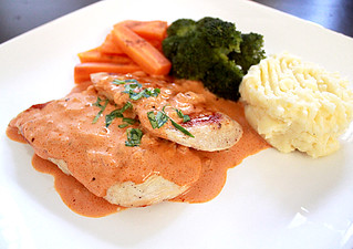 grilled chicken with creamy napolitana sauce1 | by inmystudio2011