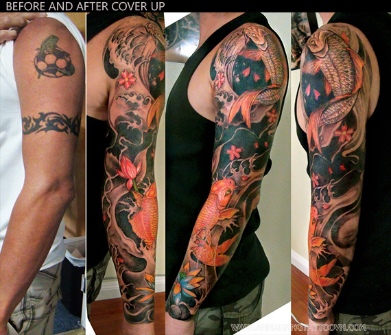 Tattoo Design Cover Up Full Arm Annahangtattoo Flickr
