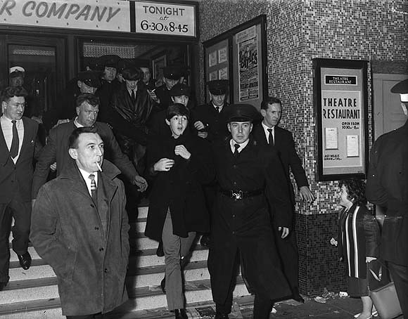 November 8 1963 The Beatles Emerging From The Ritz
