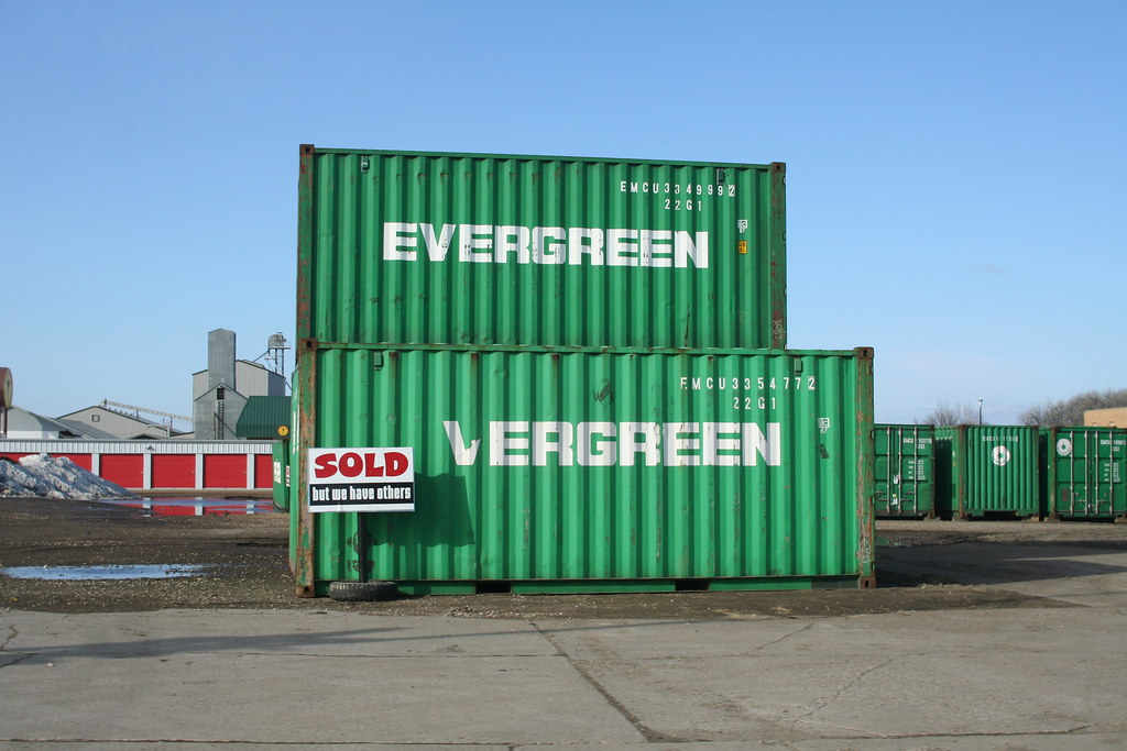 Ic Free Shipping >> Evergreen shipping containers in Grafton, North Dakota no.… | Flickr