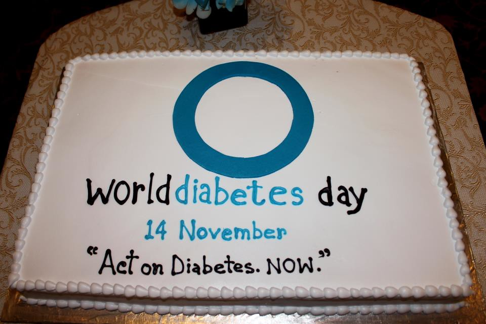 World Diabetes Day CAKE by Diabetic Association of India Flickr