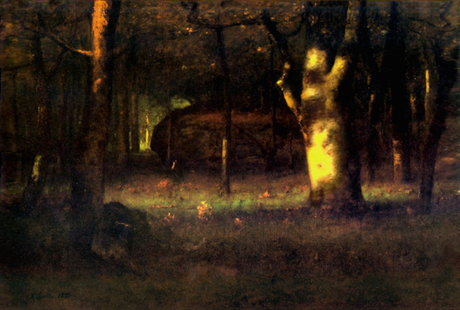 George Inness Sunset In The Woods 1891 Oil On Canvas