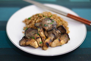 miso grilled oyster mushrooms + buttered farro | by liminaldreams