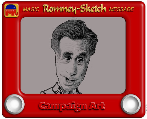 Romney-Sketch Cartoon | by DonkeyHotey