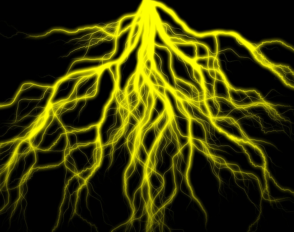 Yellow Lightning Bolt Background