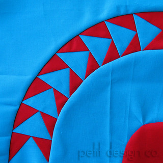 Red and Teal flying Geese | by Petit Design Co.