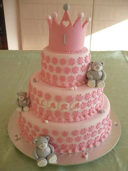 Princess themed 1st birthday cake bottom and top tier are Flickr