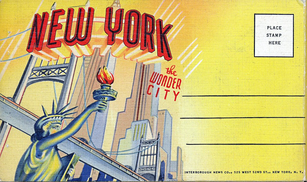 New york the wonder city graphic design cover vintage for Teich design new york