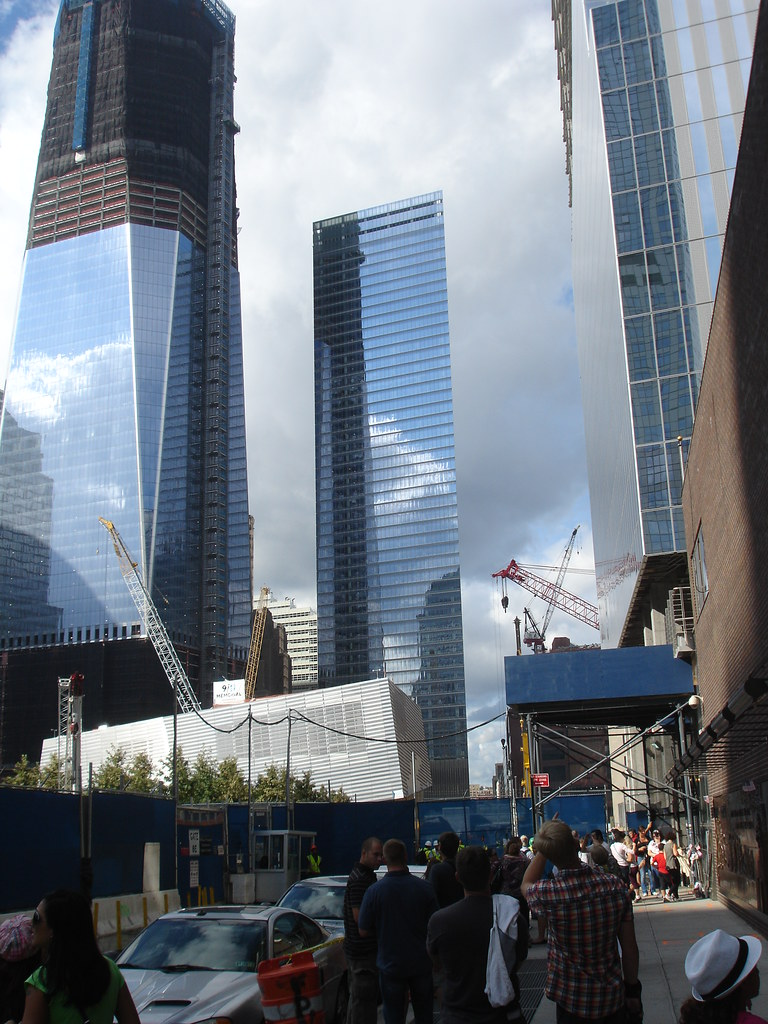 7 world trade center in the center the first building