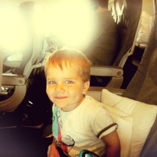 My 2 year old Mattias in his business class seat Frankfurt to Bremen. A frequent flyer since he was 2 months old. | by ::enrapture::