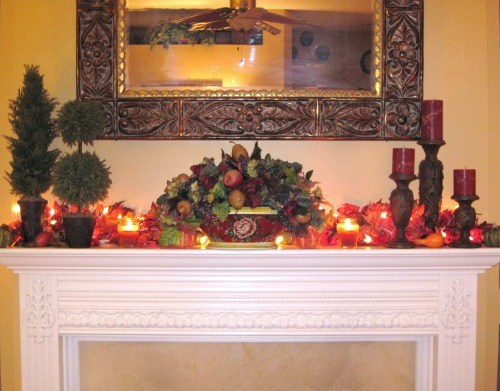 Autumn Fireplace Mantel I Just Finished Decorating My