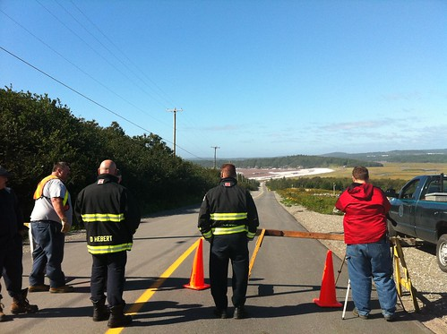 Roadblock. Post-Irene, Saint John | by Mare Lewell