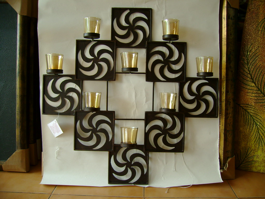 Metal Wall Decor With Candles : Metal wall art for candle kreative flickr