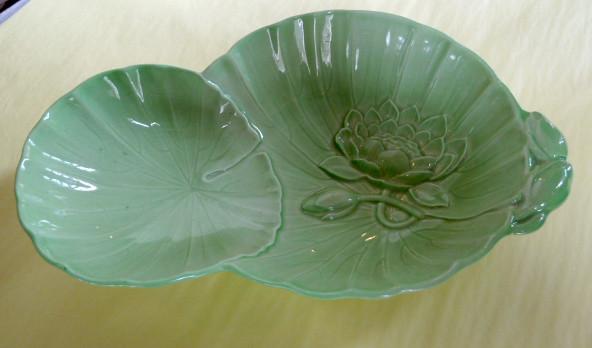 E605n 1930s 1940s australian design embossed green lotu flickr e605n 1930s 1940s australian design embossed green lotus flower carlton ware bowl mightylinksfo